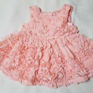 Cat & Jack Light Pink Rosette Dress